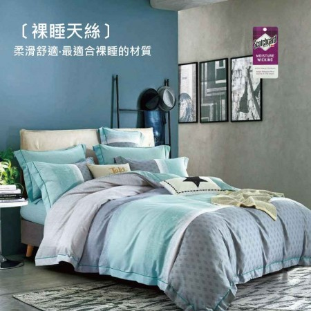 3M專利吸濕排汗X最適合裸睡的材質-裸睡天絲兩用被床包組《塞內加爾》