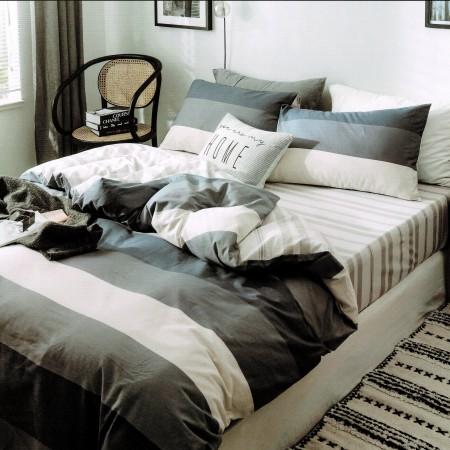 【PLAY BOY】100%精梳棉刺繡床包兩用被組《PY05》