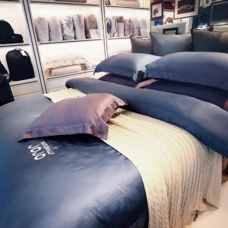 【NATURALLY JOJO】60支頂級純天絲素色床包兩用被組(特大+8*7兩用被-多色任選)