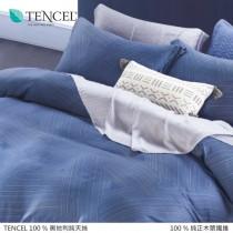 100%頂級奧地利純天絲床包枕套三件組《A034》
