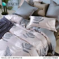 100%頂級奧地利純天絲床包枕套三件組《A052》