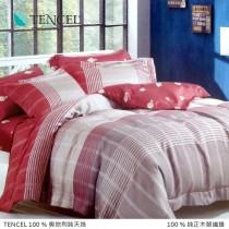 100%頂級奧地利純天絲床包枕套三件組《A069》