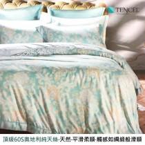 頂級60支100%奧地利純天絲床罩組八件式《時光》