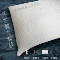 頂級舒適‧內含40顆獨立筒‧獨立筒天絲枕