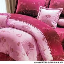 100%精梳棉床罩六件式《靜待紅花》