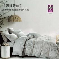3M專利吸濕排汗X最適合裸睡的材質-裸睡天絲兩用被床包組《烟絨》