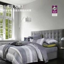3M專利吸濕排汗X最適合裸睡的材質-裸睡天絲兩用被床包組《都市密碼》