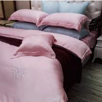 【NATURALLY JOJO】60支頂級純天絲素色床包兩用被組(雙人-多色任選)