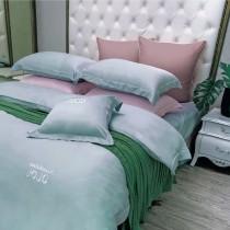 【NATURALLY JOJO】60支頂級純天絲素色床包兩用被組(加大-多色任選)