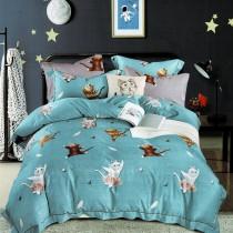 3M專利吸濕排汗X最適合裸睡的材質-裸睡天絲床包枕套組-快樂頌