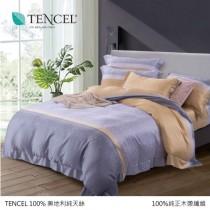 100%頂級奧地利純天絲床罩組八件式《T-018》